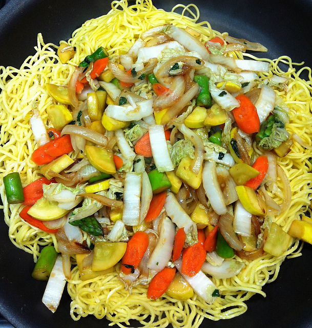 Vegetable Pan Fried Noodles