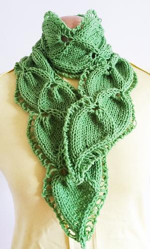 Leaf Knitting Pattern Scarf : Ravelry: Scarf Twin Leaf pattern by Jen Giezen