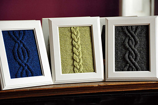 Ravelry Quot Cable Panels Quot Knitted Wall Art Pattern By Lauren