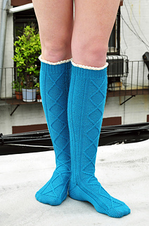 Diamond_in_the_ruffle_cable_knee_high_socks_knitting_pattern_2_small2
