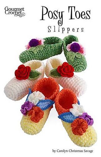 Gourmet Crochet Amigurumi Dinosaurs : Ravelry: Posy Toes Slippers pattern by Carolyn Christmas