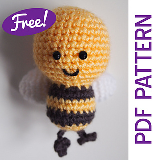 Knit and crochet free patterns - Bees. Compilation of free patterns to knit or crochet, all about bees. Hats, costumes, skirts and other outfits.