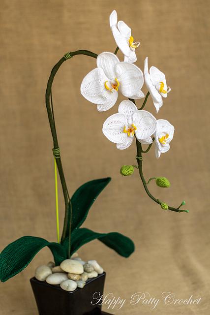 orchidée crochetée