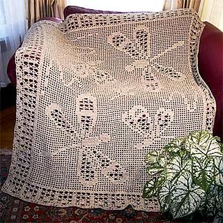 Crochet Dragonfly Baby Blanket Pattern : Ravelry: Dragonfly Afghan Pattern FA704 pattern by Hartmut ...