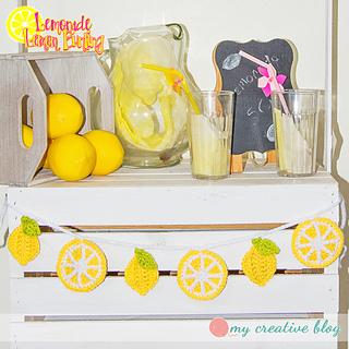 Ravelry lemonade lemon bunting pattern by heather boyer for Lemon shaped lemonade stand