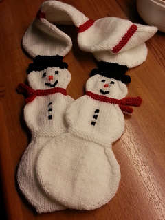Ravelry Snowman Snowball Toddler Scarf Pattern By Suzanne