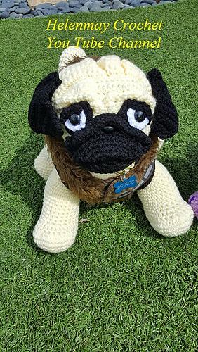 Amigurumi Horse Patterns : Ravelry: Crochet Pug Amigurumi Dog pattern by Helen Brady