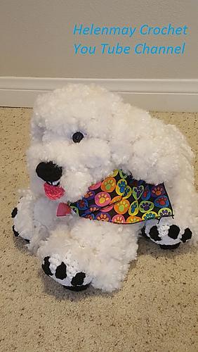 Ravelry Crochet Bichon Frise Dog Pattern By Helen Brady