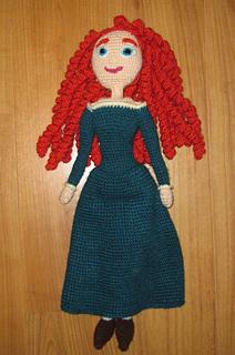 Designer Crochet Amigurumi Patterns Merida Warrior Princess : Ravelry: MERIDA a brave doll amigurumi pattern by Helen Emms
