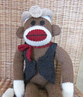 Knitting Patterns For Sock Monkey Clothes : Ravelry: Machine Knit Sock Monkey Clothes- Cowboy pattern by Suzanne Hogan