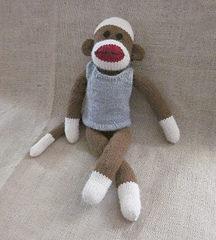 Knitting Patterns For Sock Monkey Clothes : Ravelry: Machine Knit Sock Monkey Clothes- Tank Top pattern by Suzanne Hogan