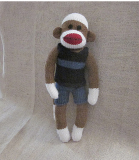 Knitting Patterns For Sock Monkey Clothes : Ravelry: Machine Knit Sock Monkey Clothes- Shorts pattern by Suzanne Hogan