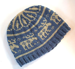 Knitting Pattern For Moose Hat : Ravelry: Moose in the Woods Hat pattern by Holly Marie