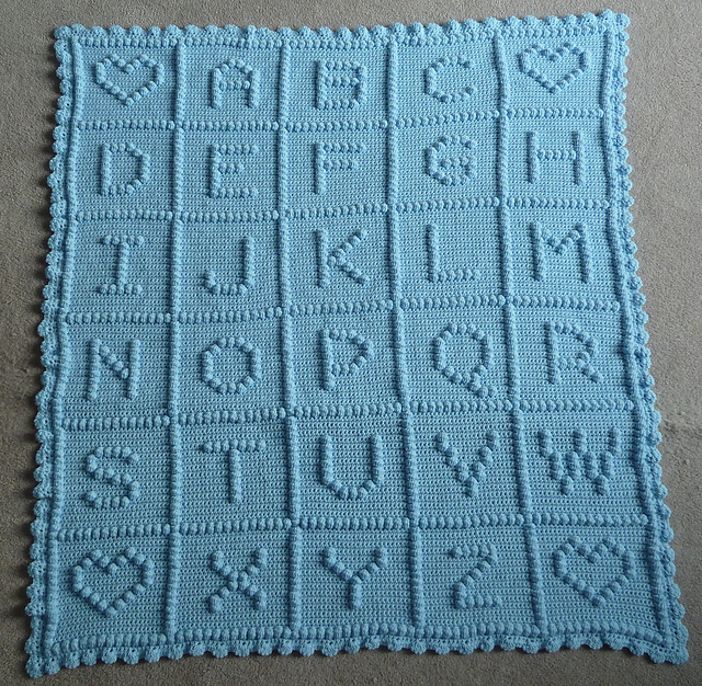 Knitting Pattern Alphabet Blanket : Anyone going to crochet/knit a baby blanket?   The Bump
