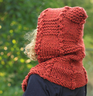 Hooded Cowl Knitting Pattern Ravelry : Ravelry: Fall Woods Quilt Squares Hooded Cowl pattern by Janelle Serio