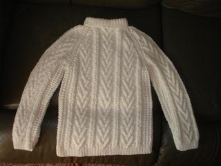 Ravelry Child S Fisherman Knit Sweater Pattern By Bernat
