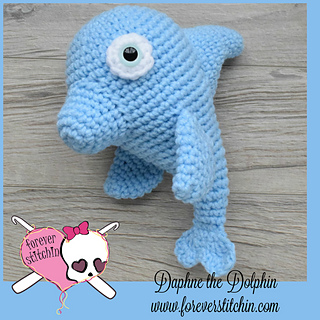 Crochet Dress Pattern For American Girl Doll : Ravelry: Dolphin Amigurumi pattern by Forever Stitchin