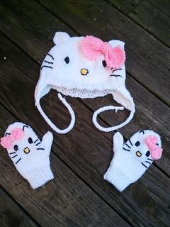 Hello Kitty Mittens Knitting Pattern : Ravelry: My Hello Kitty Mittens pattern by Jennifer Brooks Rice