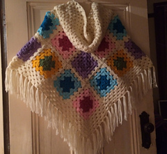 Ravelry: Granny Hooded Poncho pattern by Julie Peirce