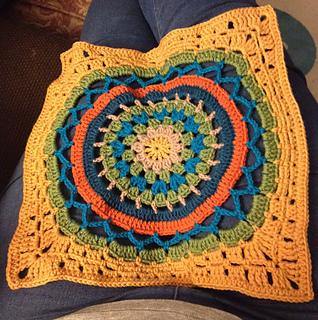 Ravelry Daisy Centre Mandala Square Pattern By Zelna Olivier