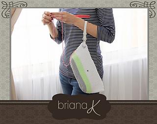 RavelryClutch Wristlet Project Bag Purse pattern by Briana K Designs