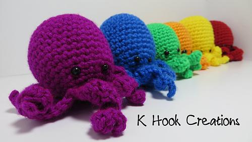 Squirtle Amigurumi Octopus : Ravelry: Tiny Octopus Amigurumi pattern by Karabean