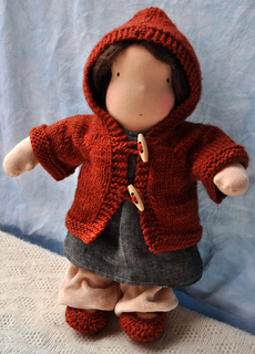 Knitting Patterns For Waldorf Dolls : Ravelry: Hazels Hoodie - Waldorf Doll Sweater pattern by ...