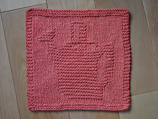 Knit Dishcloth Pattern Ravelry : Ravelry: Arrosoir (Watering Can) Dishcloth pattern by Danielle Cote