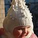 Шапочка и шарфик для девочки 3—5 лет. .  Плотность вязания: Шапочка. .  На 4...