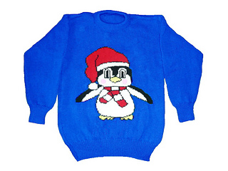 Free Knitting Pattern For Baby Cardigan : Ravelry: Christmas Penguin Jumper / Sweater Knitting Pattern pattern by Blond...