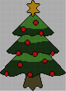 Ravelry Christmas Tree Jumper Sweater Knitting Pattern