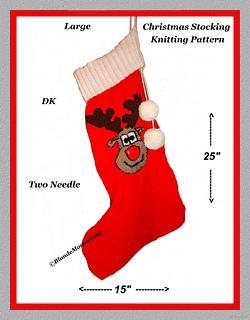 Ravelry: Christmas Rudolph Reindeer Stocking Knitting ...