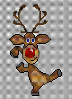 Knitting Pattern Christmas Jumper : Ravelry: Christmas Rudolph Reindeer Jumper / Sweater Knitting Pattern #17 pat...