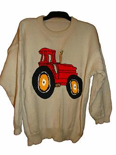 Knitting Pattern Tractor Jumper : Ravelry: Childrens & Adults Tractor #4 jumper / Sweater Knitting Pattern ...