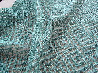 Central Knitting Pattern Library : Ravelry: Lozenge Lace Wrap and Scarf pattern by Krista Werbil