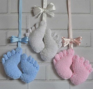 Amigurumi Baby Feet Pattern : Ravelry: Baby Feet Charm pattern by Knitting by Post