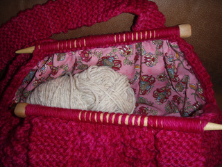 Ravelry: Knitting Needle Knitting Bag pattern by Pam Allen