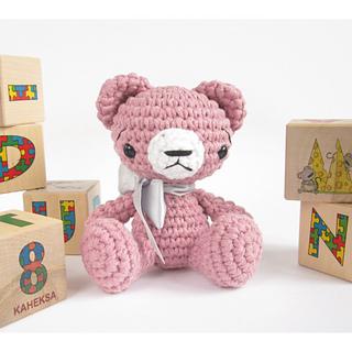 Tiny Amigurumi Bear Pattern : Ravelry: Small sitting teddy bear - CROCHET PATTERN - Cute ...