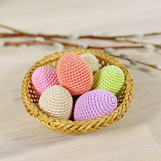 Amigurumi Fried Egg Pattern : Ravelry: Chicken Eggs - Easter Egg - Amigurumi pattern by ...