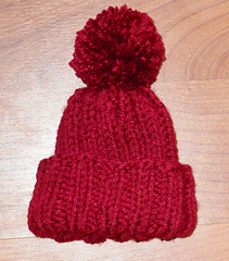Preemie Hat with Pom Pom