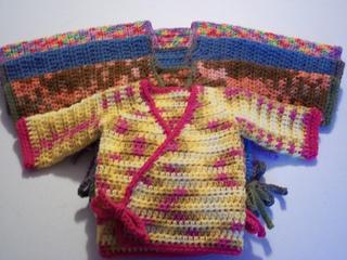 Crochet Baby Kimono Wrap Pattern : Ravelry: Crochet Kimono Wrap Baby Sweater pattern by Kylie ...