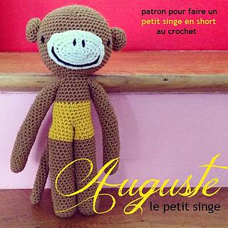 ravelry auguste le petit singe pattern by la belette rose. Black Bedroom Furniture Sets. Home Design Ideas