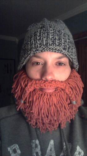Free Beard And Moustache Knitting Pattern : Ravelry: Mountain Man bearded hat pattern by Kate Agner