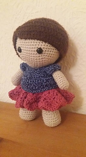 Amigurumi Doll Skirt : Ravelry: Weebee Doll - Spring Time Skirt pattern by Laura Tegg