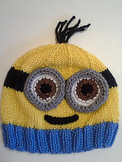 Minion Knit Hat Pattern Free : Ravelry: Minion Hats pattern by Lauren Irving