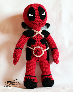 Amigurumi Crochet Dress Pattern : Ravelry: DeadPool toy pattern by Atelier Handmade