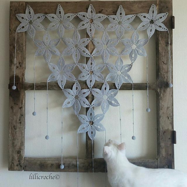 rideau crochet Kerguen par Béatrice Simon - lillicroche