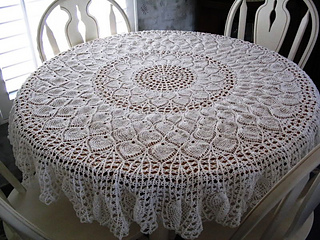 Ravelry Pineapple Petals Tablecloth Pattern By Coats Amp Clark