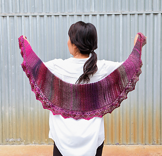Chevron Lace Shawl Crochet Pattern : Ravelry: Chevron Lace Shawl pattern by Linda Permann