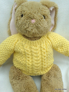 Free Knitting Pattern For Teddy Bear Sweater : Ravelry: Teddy bear Aran Sweater pattern by linda Mary